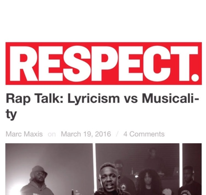 Rap Talk: Lyricism vs Musicality – By Marc Maxis of RESPECTMAG