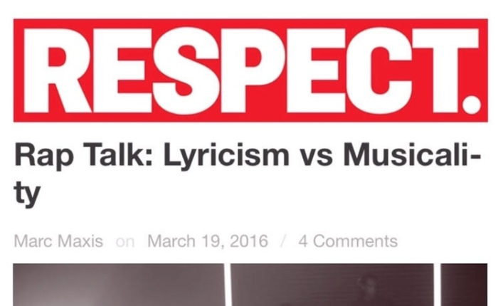 Rap Talk: Lyricism vs Musicality – By Marc Maxis of RESPECT MAG